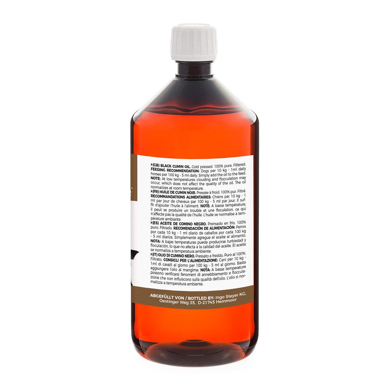 MeaVita schwarzkümmelöl para animales, kaltgepresst & 100% pura, 1er Pack (1 x 1000 ml) Natural para garrapatas & piel cuidado: Amazon.es: Productos para ...