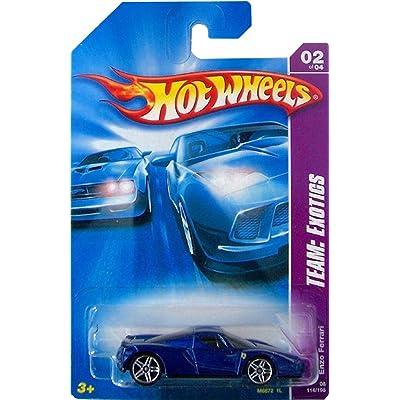 Hot Wheels 2006-114 Team Exotics Enzo Ferrari BLUE 1:64 Scale: Toys & Games