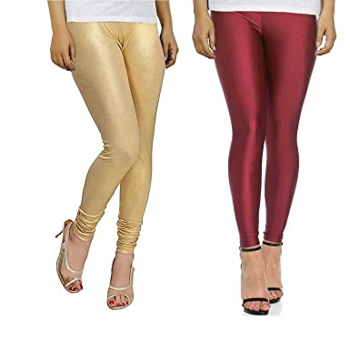 14d411091a3d8 Bhetvastu Women's Lycra Shiny Leggings Combo (BV05, Maroon, XL): Amazon.in:  Clothing & Accessories
