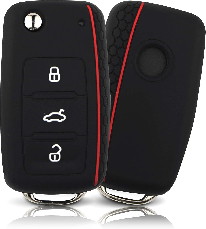Asarah Premium Silikon Schlüsselhülle Geeignet Für Vw Elektronik