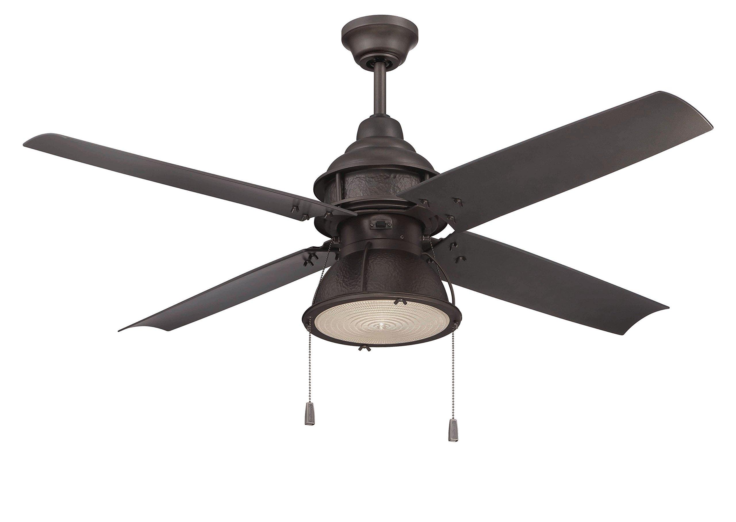Craftmade Outdoor Ceiling Fan with CFL Light PAR52ESP4 Port Arbor 4 Blade 52 Inch Wet for Patio, Espresso