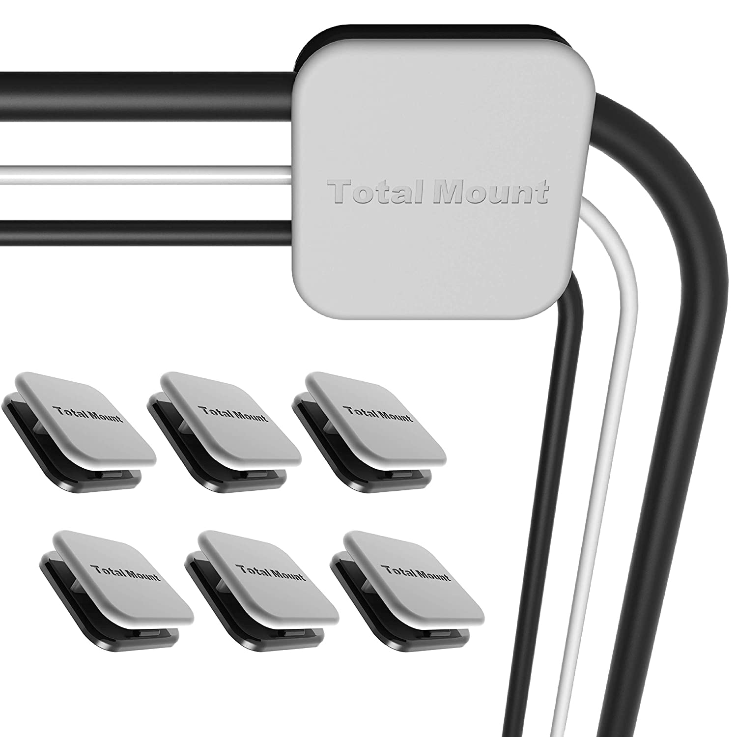 TotalMount Television Cable Managers - Organize Your TV Cables (Includes 6 Large Cable Managers That Each Hold 2 to 4 Cables)