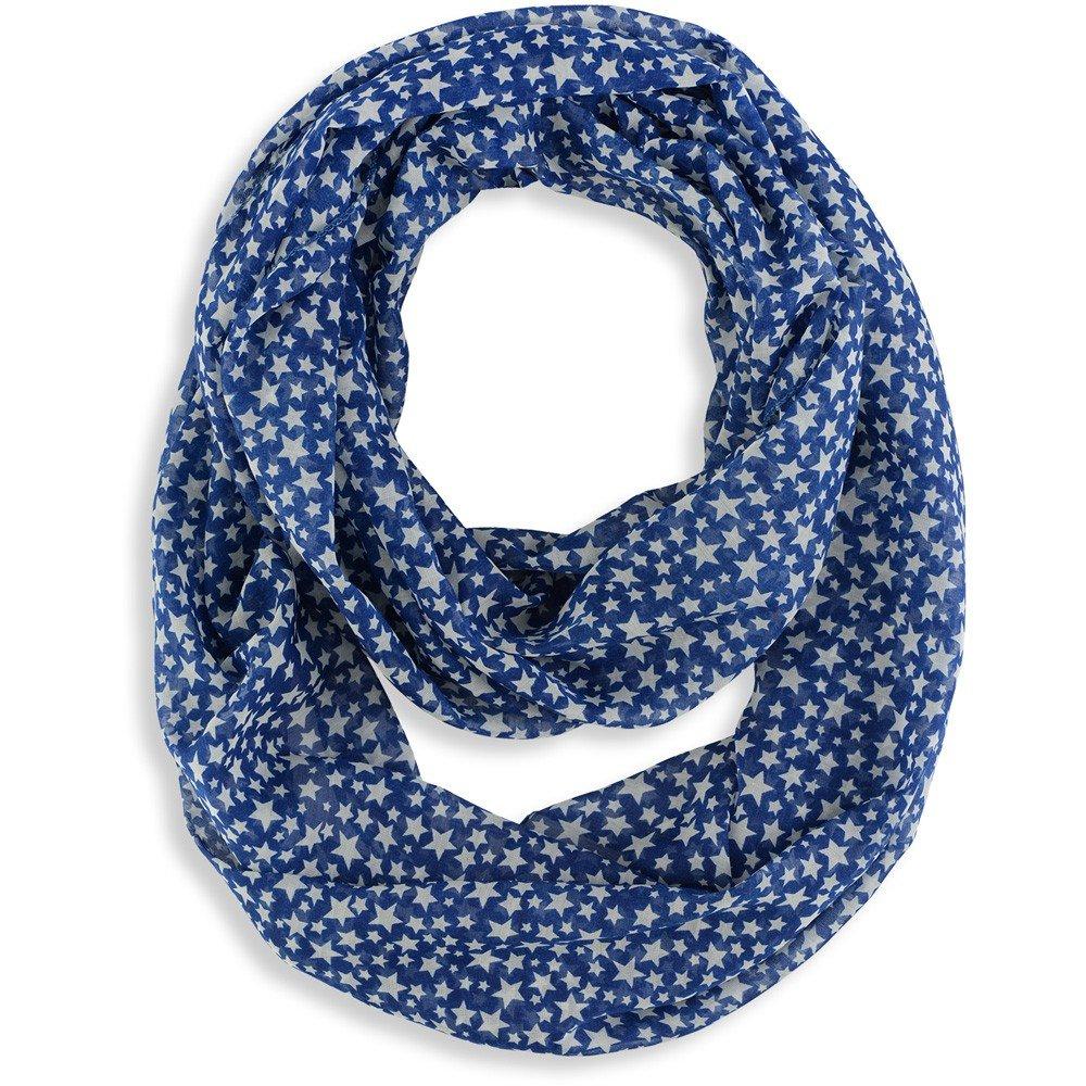 b76cb0062ffb Foulard Snood Etoiles Bleu marine  Amazon.fr  Vêtements et accessoires