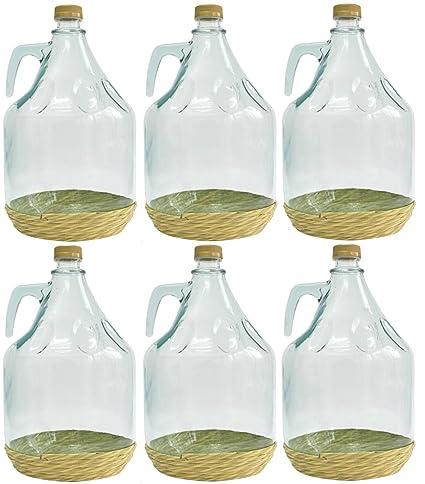 6er SET gärballon botella de vidrio forma de globo de cristal de botellas de vino de