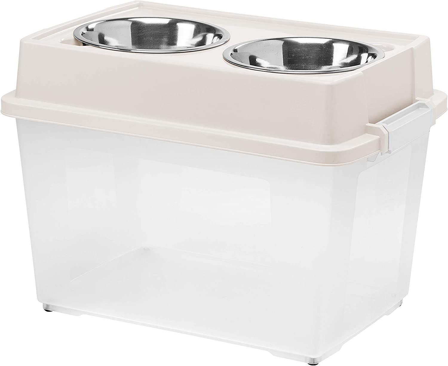 Inspired Essentials Elevated Pet Feeder with Airtight Pet Food Storage