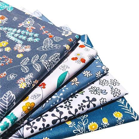 Flic-Flac Juego de retales de algodón natural para patchwork, costura y manualidades, 51 x 51 cm, estampados, alta densidad: Amazon.es: Juguetes y juegos