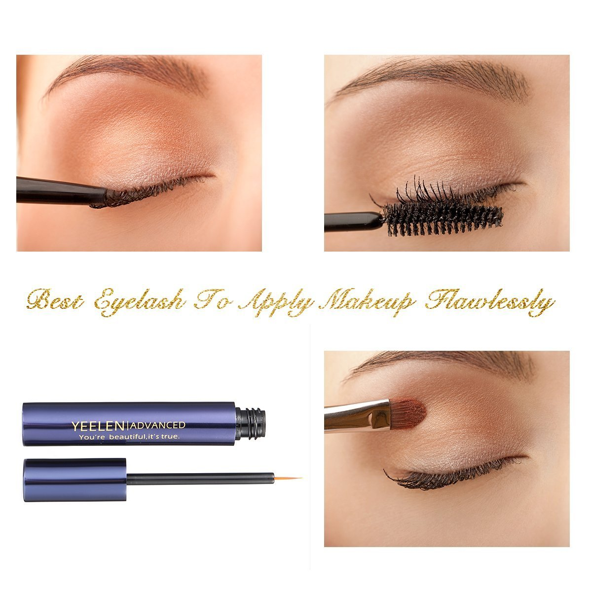 Yeelen Eyelash Eyebrow Growth Serum Grows Longer, Fuller, Thicker Lashes & Brows in 45 days! Enhancer Eyelash Conditioner Non-prescription Eyelash Serum 5ml by Yeelen (Image #6)