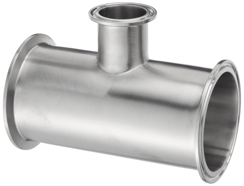 Dixon B7RMP-G300150 Stainless Steel 304 Sanitary Fitting, Reducing Clamp Tee, 3'' Tube OD x 3'' Tube OD x 1-1/2'' Tube OD