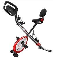 Sportstech Vélo d'appartement F-Bike X100 et X150 4-en-1 Home Trainer Vélo d'intérieur, X-Bike pour Adulte, poignées avec cardiofréquencemètre, Cordes de Traction, Support pour Tablette, ergomètre