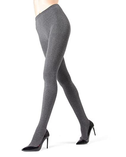 69fc3fad5e351 Memoi Heather Plush Lined Fleece Tights | Women's Hosiery - Pantyhose Black  MO 151 Small/. Roll over image to ...