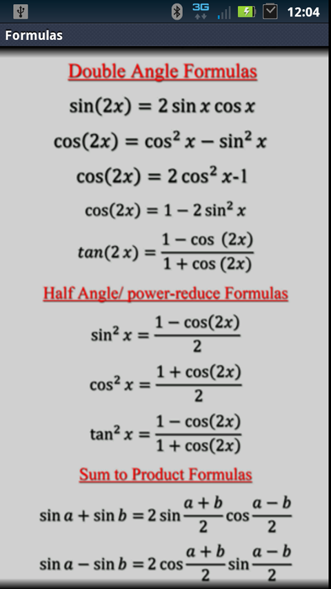 Amazon com: Table of Integrals and Derivatives and Trig