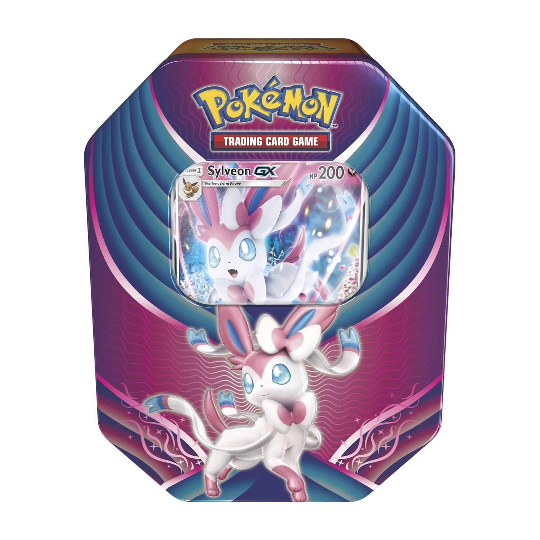 Pokemon 2018 Fall Evolution Celebration Tin- Sylveon-Gx | A Foil Gx Card | 4 Booster Pack