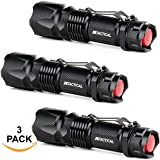 J5 Tactical V1-Pro Flashlight (3 Pack) The Original 300 Lumen Ultra Bright, LED 3 Mode Flashlight ¡