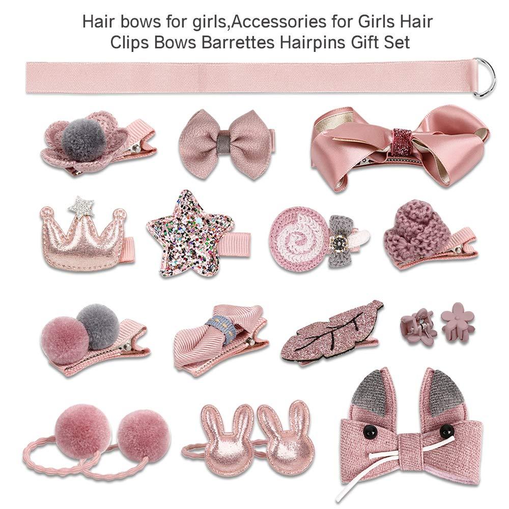 EagleUS Baby Girls Toddler Bow Headband Elastic Hair Bows Newborn Headwear EagleUS Pack of 10