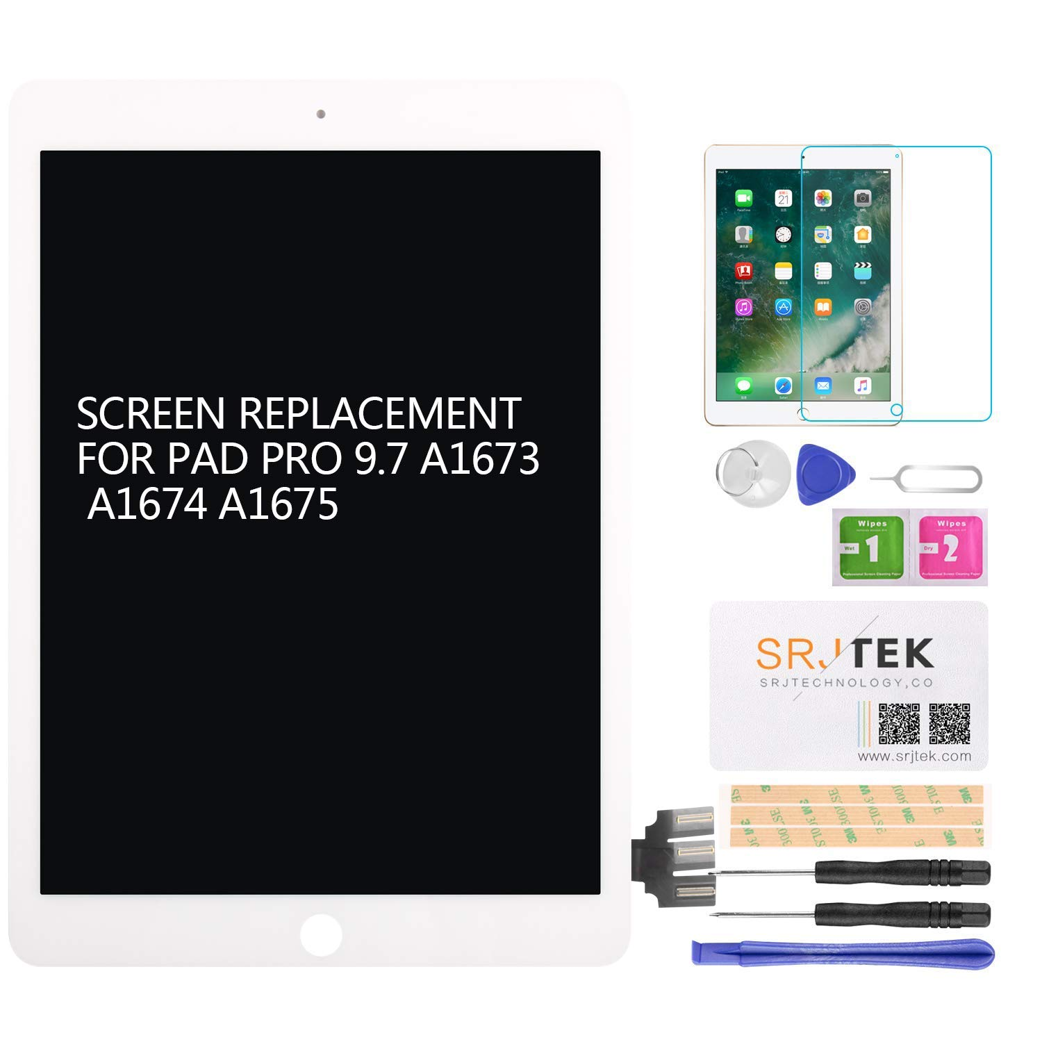 for iPad Pro 9.7 A1673 A1674 A1675 Screen Replacement LCD Display Touch Digitizer Glass Assembly No Home Button