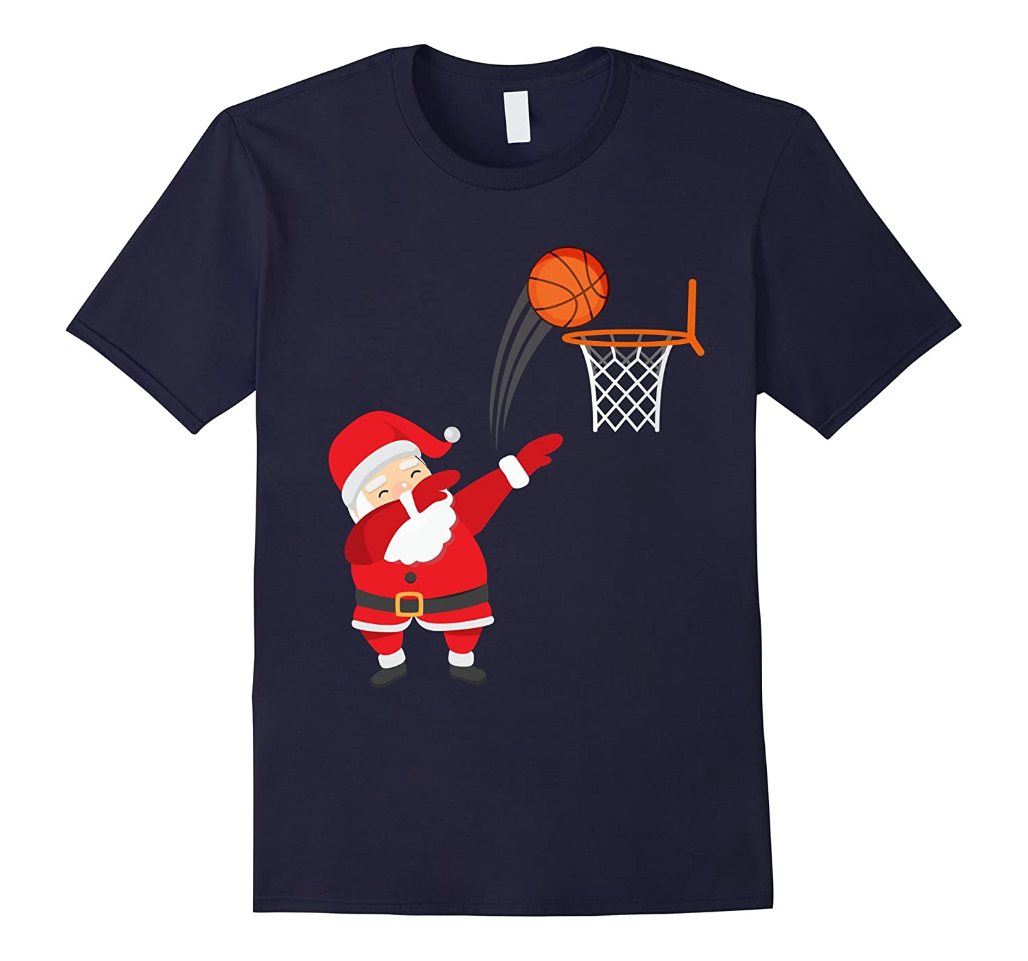 Dabbing Basketball Christmas Shirt - Santa Claus Dab T-Shirt-ANZ