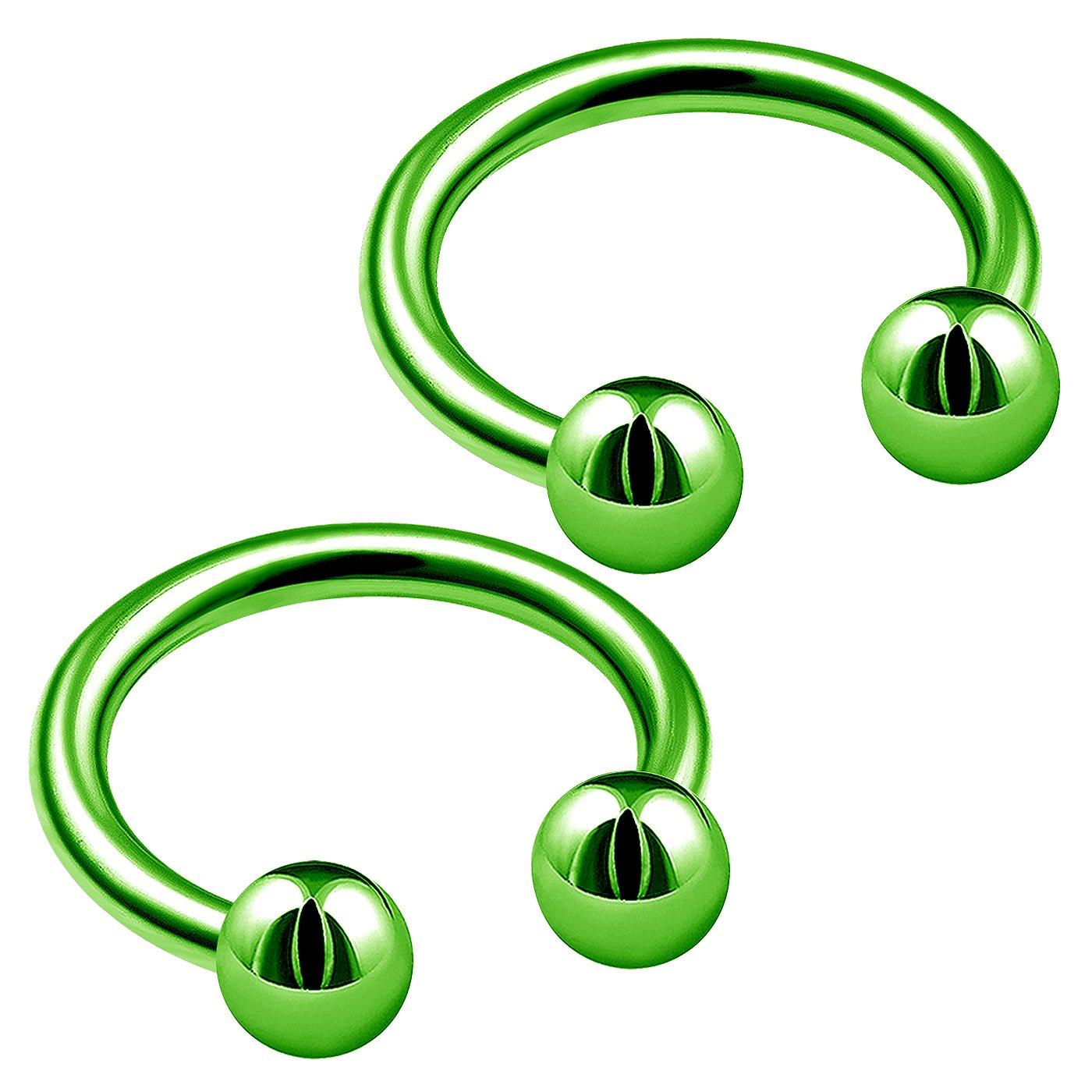 bodyjewellery 2pcs 16g circular barbell septum snake nose ring eyebrow ear tragus lip helix B2MCJ Pick color