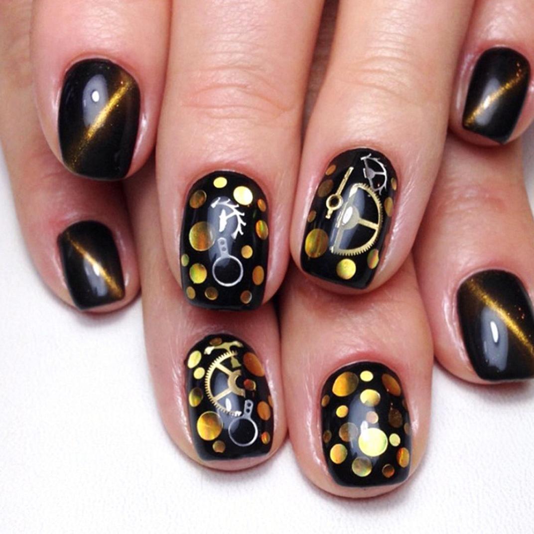 samLIKE nagel sticker,Bunte Nail Art Tipps Aufkleber 3D Make up ...