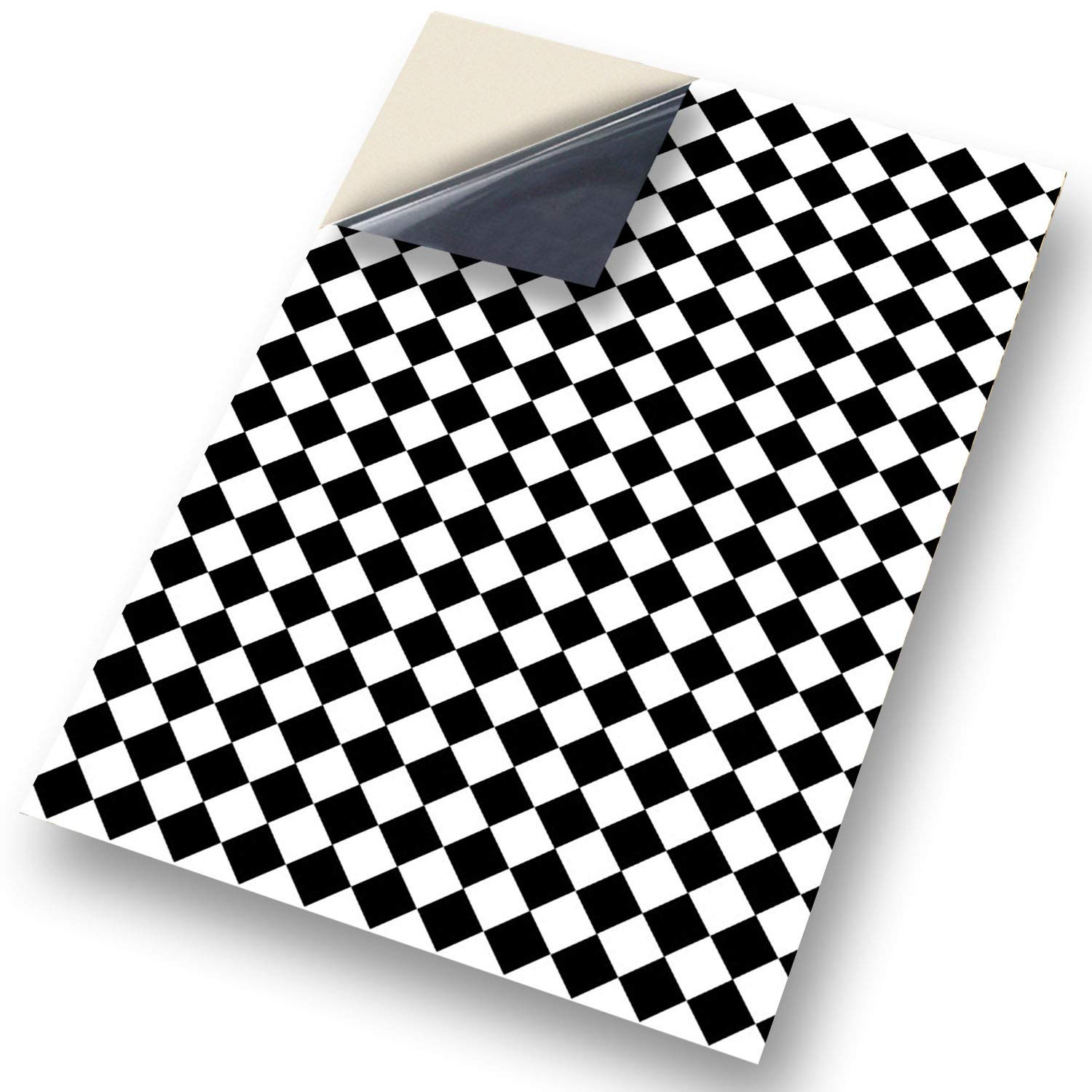 """No 43 Floor Black Diamond: NEW SELF ADHESIVE Dolls House Wallpaper : 1/12th scale Sheet Size : 12. 1/12"""" wide x 8.3/4"""" high (318mm x 225mm) Superior """"Non see through"""" Semi Matt Vinyl Coverings that can be applied instantly over exis"""