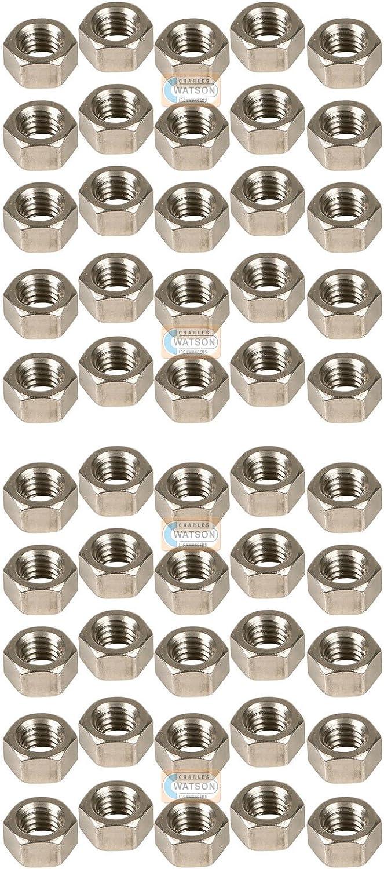 PACK 50 Size M10 Hexagon Hex BZP Full Nut