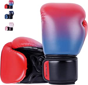 Liberlupus Youth Boxing Gloves for 10-18, Teens Boxing Gloves with Gradients, 2 Sizes, Teenagers Junior Kids Boxing Gloves for Punching Bag, Kickboxing, Muay Thai, MMA
