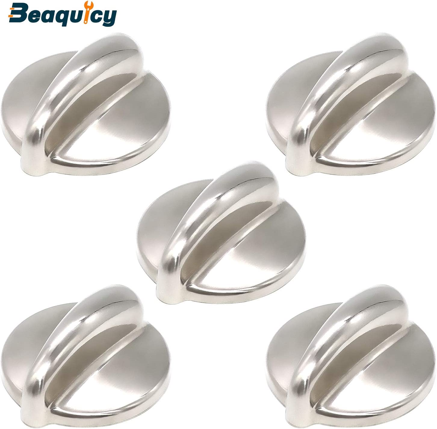 Replacement for GE Range Pack of 5 Beaquicy WB03K10303 Surface Burner Knob Heavy Duty Metal Knobs