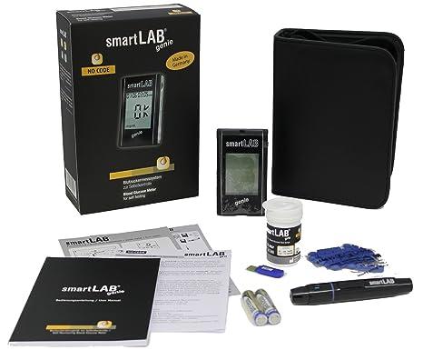 smartLAB genie Sistema de Monitoreo de Glucosa en Sangre como Juego de Arrancadores | Medidor de