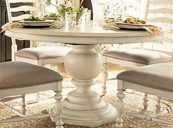 Paula Deen Home Round Pedestal Table in Linen