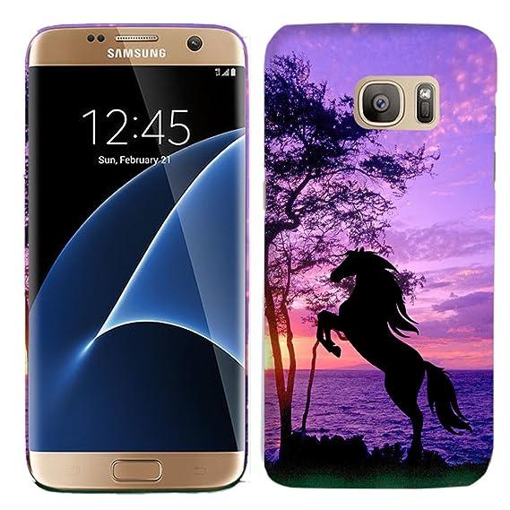 official photos 77b38 35c2a Amazon.com: Galaxy S7 Case - Horse Hard Plastic Back Cover. Slim ...