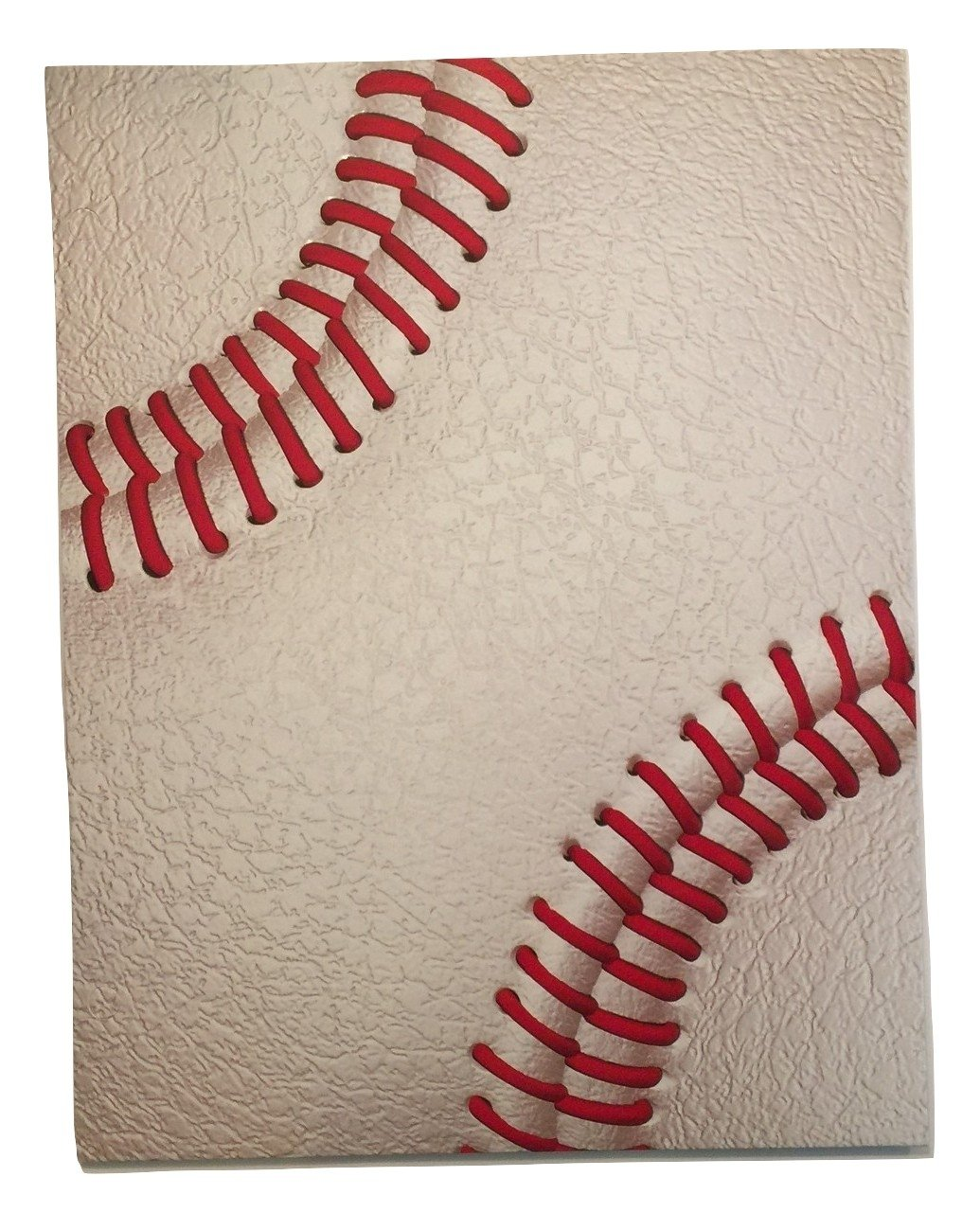 Promarx Two Pocket 3D Sports Folder ~ Baseball (Cowhide and Seam)