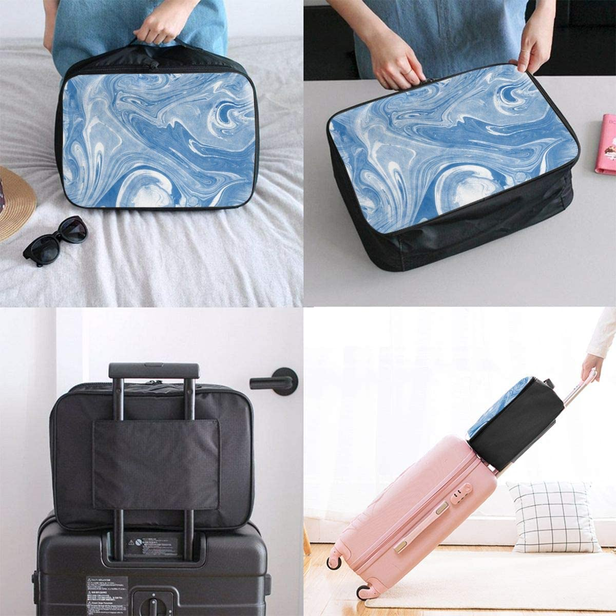 Travel Luggage Duffle Bag Lightweight Portable Handbag Chess Print Large Capacity Waterproof Foldable Storage Tote