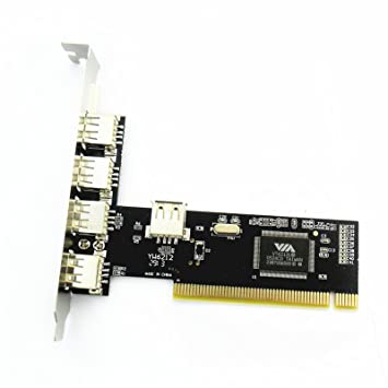 Amazon.com: allytech (TM) 5 Port (4 + 1) tarjeta PCI USB 2.0 ...
