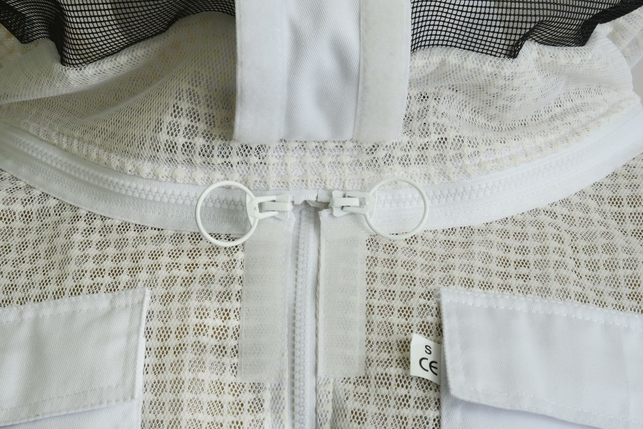 Bee Suit 3 Layer Ultra Ventilated Safety Protective Unisex White Fabric Mesh Beekeeping Jacket Beekeeper Outfit Fency Veil-XL by Bee Suit (Image #7)