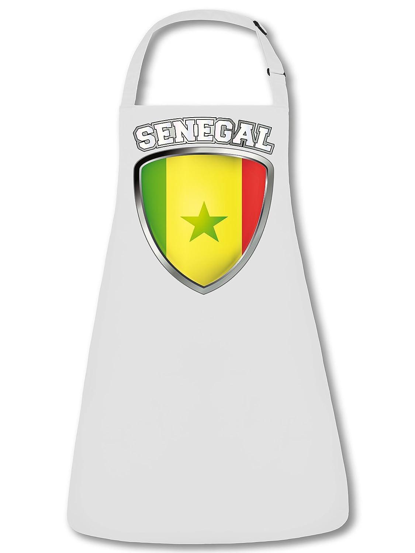 FAN SCHÜRZE Senegal Wappen 5524 Grillschürze (Weiss)