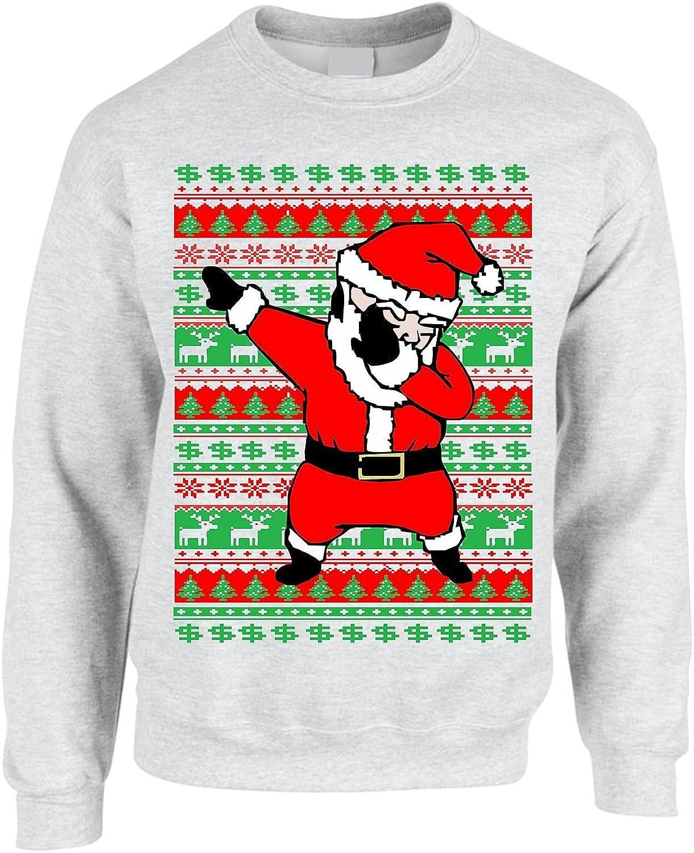 ALLNTRENDS Adult Crewneck Dabbing Santa Ugly Christmas Sweater