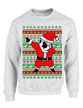 Allntrends Adult Crewneck Dabbing Santa Ugly Christmas Sweater at Amazon  Women's Clothing store: