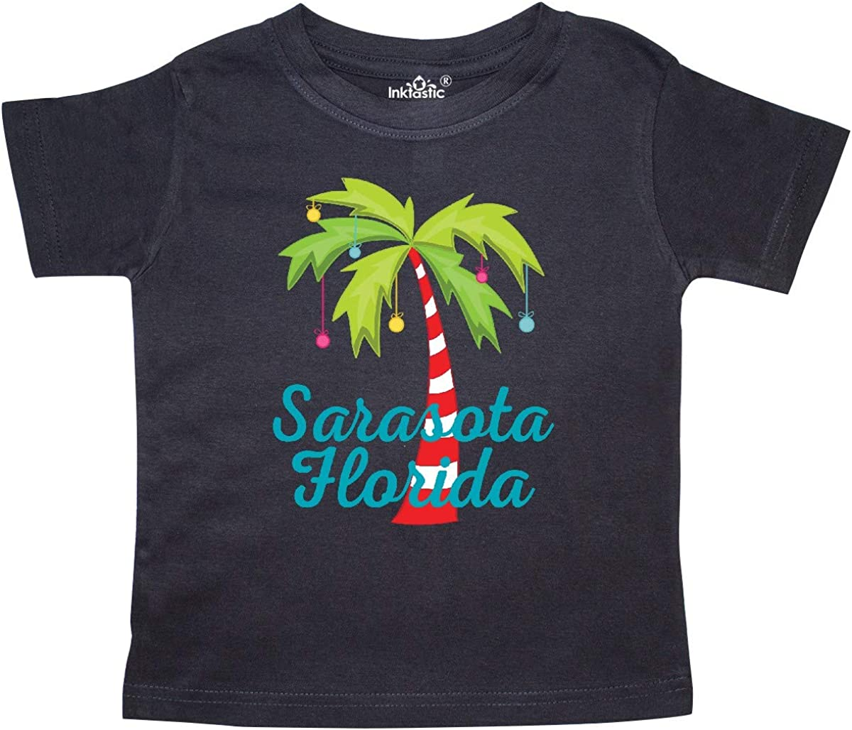 inktastic Sarasota Florida Christmas Vacation Toddler T-Shirt