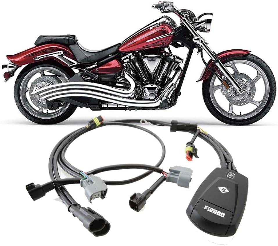 Cobra Speedster Swept Exhaust /& Fi2000 Fuel Processor compatible with Yamaha XV1900C Raider/_2225|92-1777CL