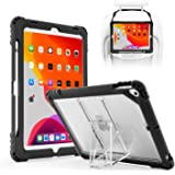 """TopEsct iPad 10.2"""" 2019 iPad 7th Generation Case,Heavy Duty Built in Pencil Holder and Kickstand Shockproof Protective Case, Compatible with New iPad 10.2"""", iPad Air 3 and iPad Pro 10.5"""" (Black-1)"""