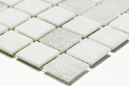 Mosaico piastrelle di rete parete mix bianco mosaico di vetro con