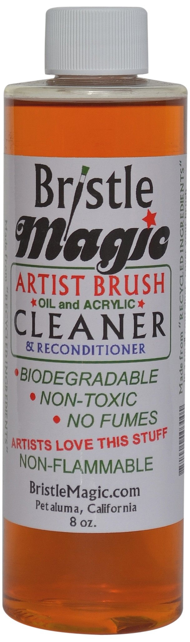 Bristle Magic Paint Brush Cleaner Bottle, 8-Ounce