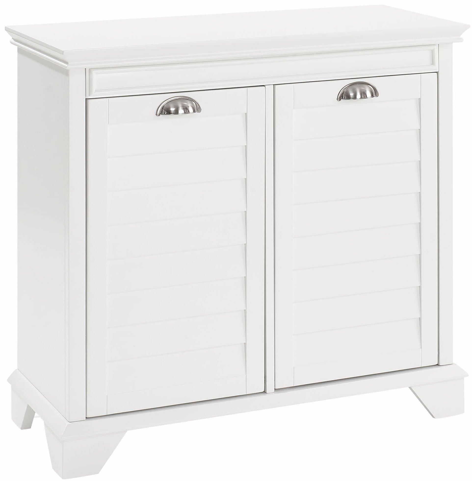Crosley Furniture Lydia Two-Compartment Linen Hamper - White by Crosley Furniture