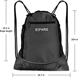 0386aa822a4c Elfhao Drawstring Backpack Bag Men   Women Sports Gym Sackpack Waterproof  ,Tote Bag