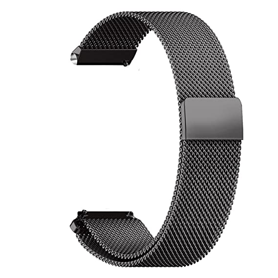 XIHAMA 22mm Universal Watch Band, Mesh Stainless Steel Quick Release Bracelet Adjustable Replacement Smart Watch Strap for Huawei Watch 2 Classic, ...