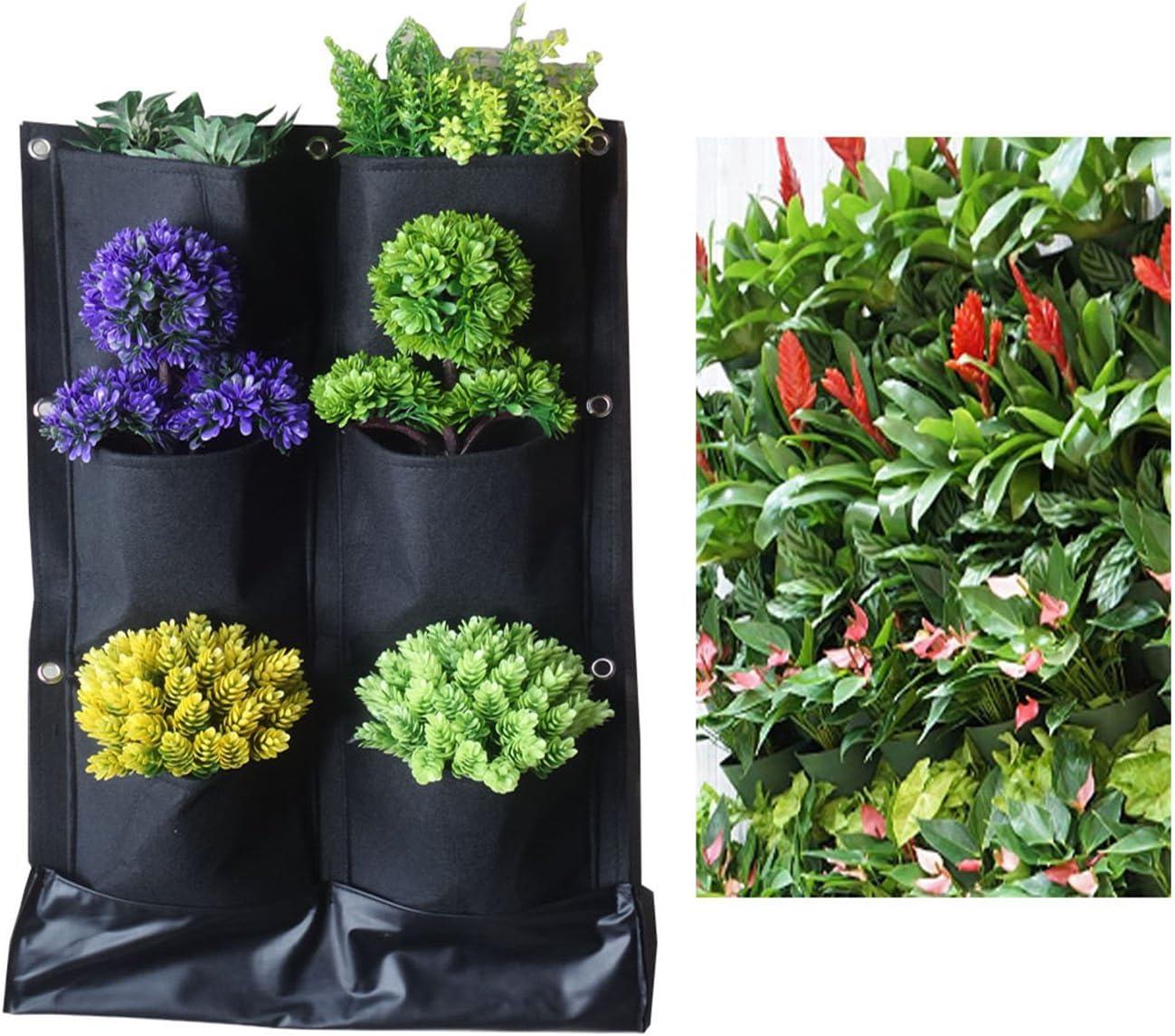 6 bolsillos no tejido telas plantas flores maceta para colgar ...