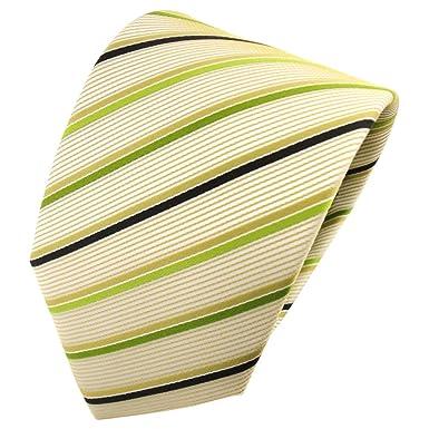 TigerTie - Corbata - verde oro beige negro rayas: Amazon.es: Ropa ...