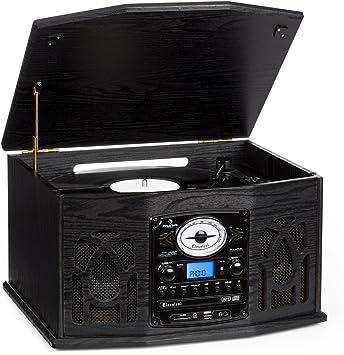 Auna NR-620 Tocadiscos - Reproductor vinilos y CD, Altavoces ...