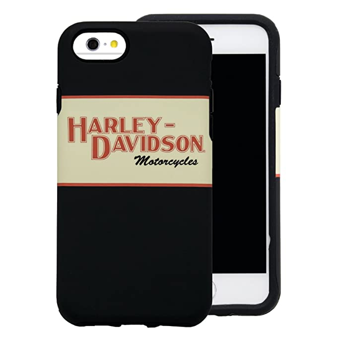 watch 4455f 4ee52 Harley Davidson Retro Red and Tan Protective Cover fits iPhone 8, iPhone 7  and iPhone 6. (Will NOT FIT Plus Size iPhone)