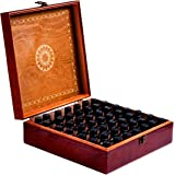 Beautiful Essential Oil Box-30ml Bottle- Holds 5-10-15-30ML 1oz & 10ml Roll On Bottles- Comes W/ 384 Essential Oil Label Stickers …