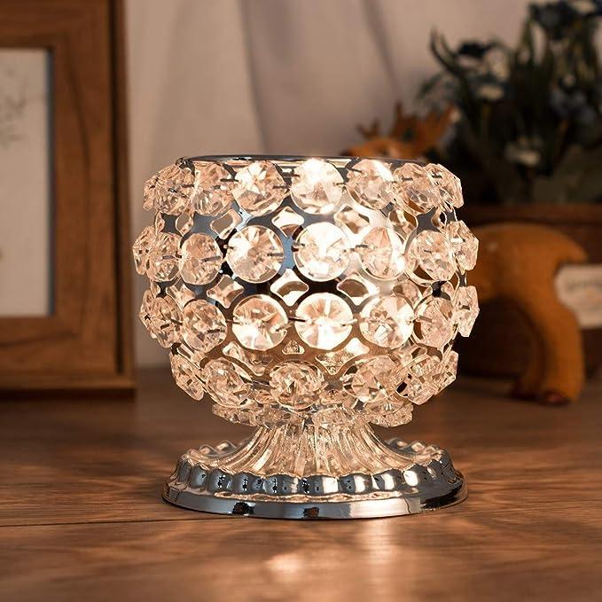 Amazon.com: Portavelas de cristal decorativo para velas ...